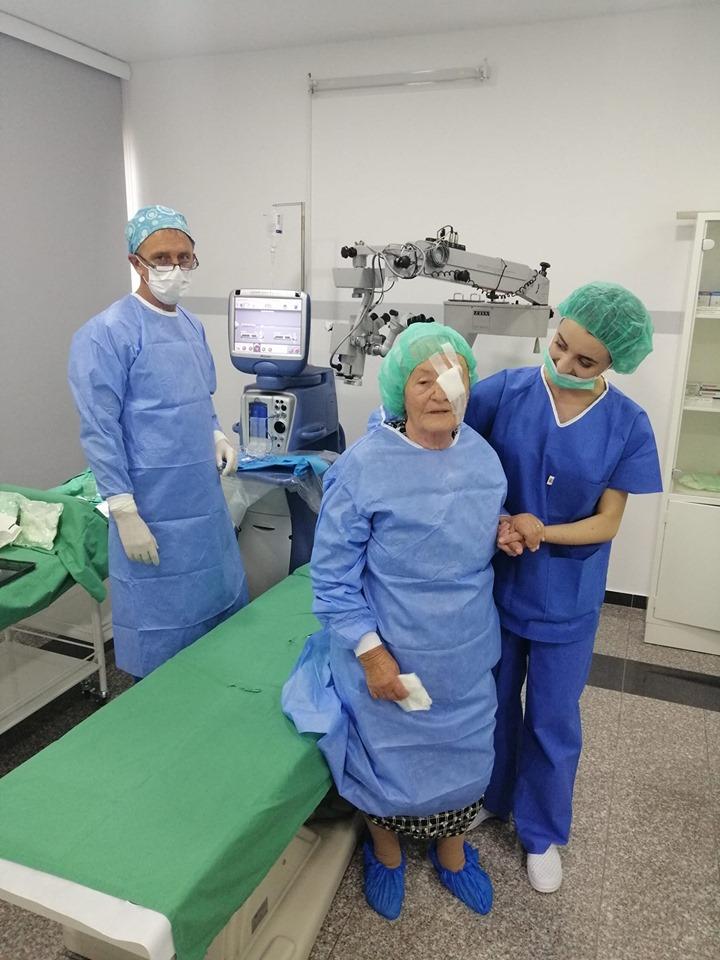 Prva operacija katarakte u poliklinici